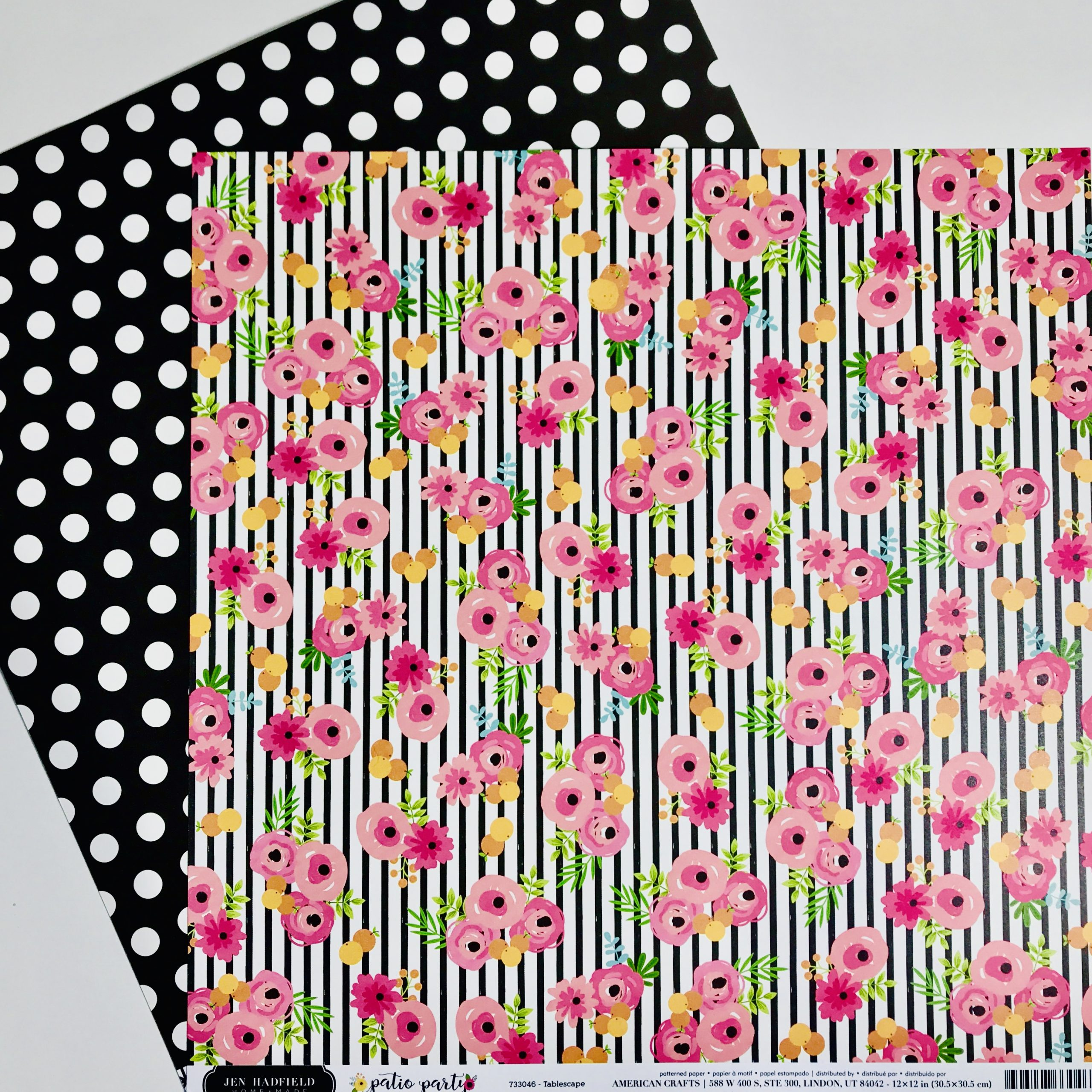 American Crafts Patio Party Paper Pack Of 2