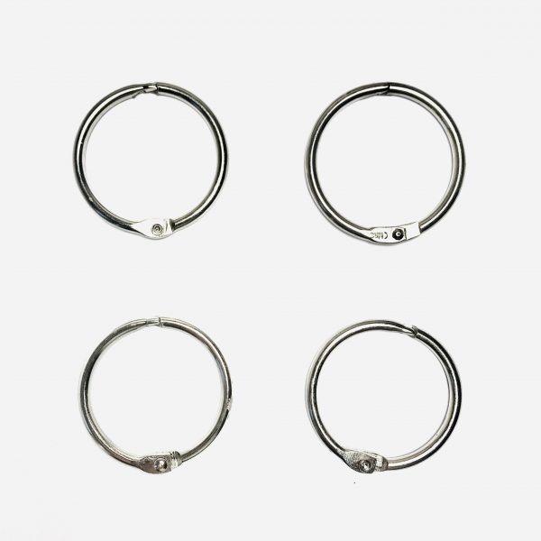 "Ella Bonella 1.5"" Metal Book Rings Pack Of 4"