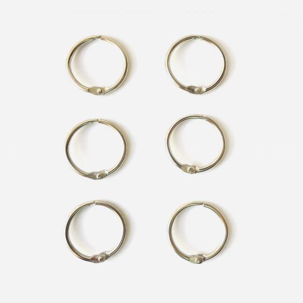 "Ella Bonella 1.25"" Metal Book Rings Pack Of 6"