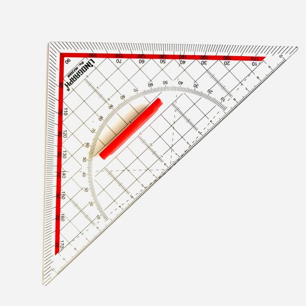 Ella Bonella Linograph Geometry Set Square 20cm With Handle
