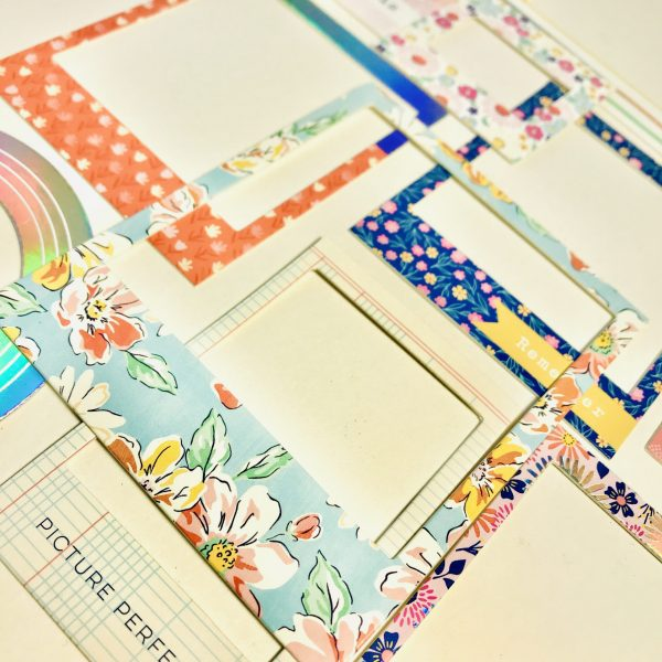 American Crafts Dear Lizzy She's Magic Holographic Chipboard Frames