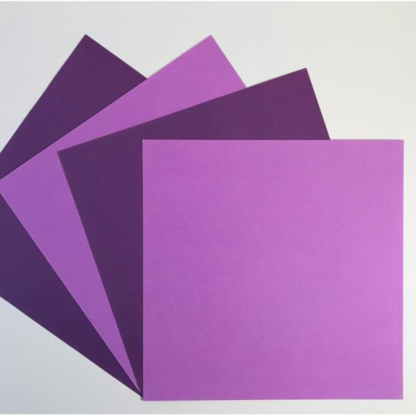EB Textured Cardstock Purple Pack Of 4