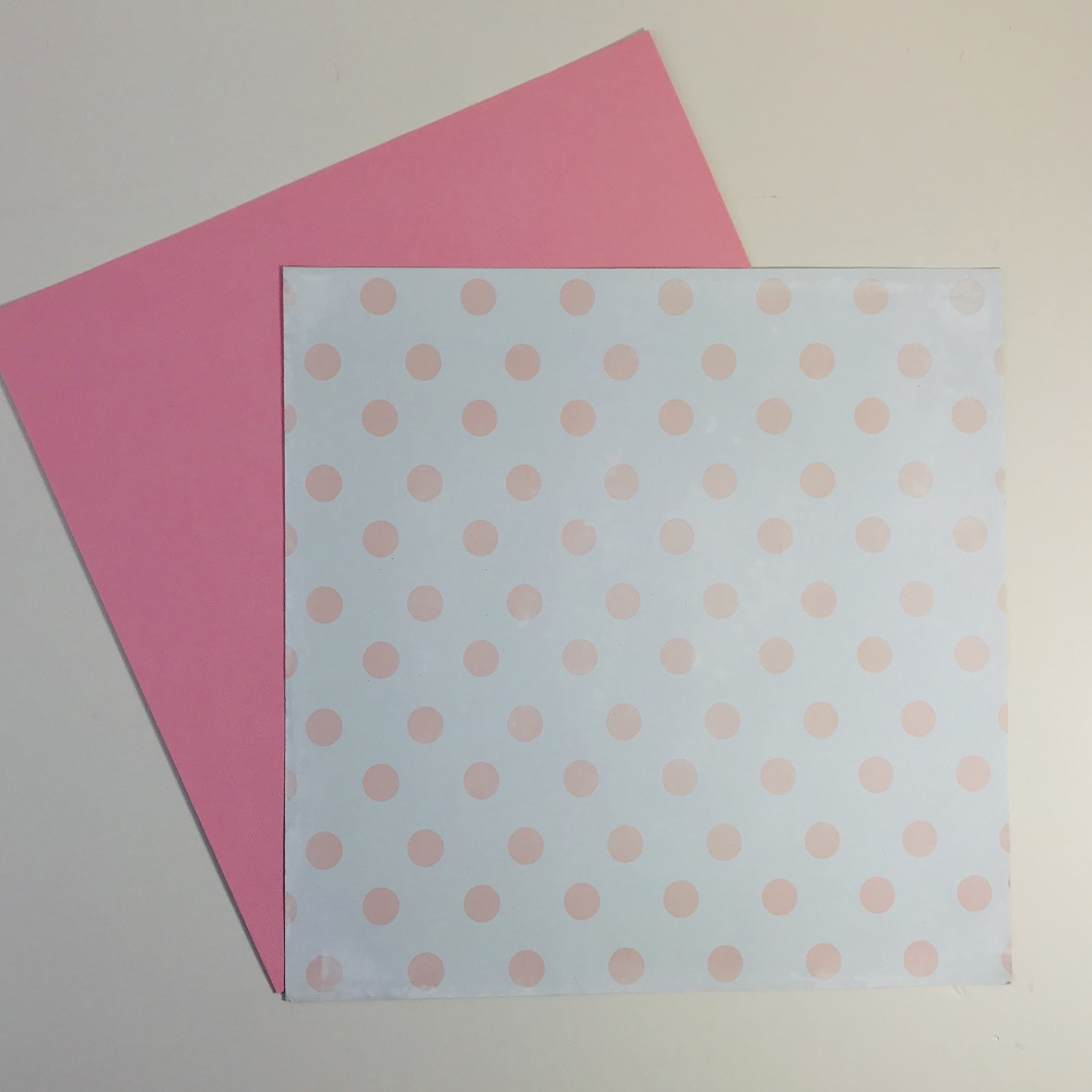 Pink Polka Dot Paper Pack Of 2