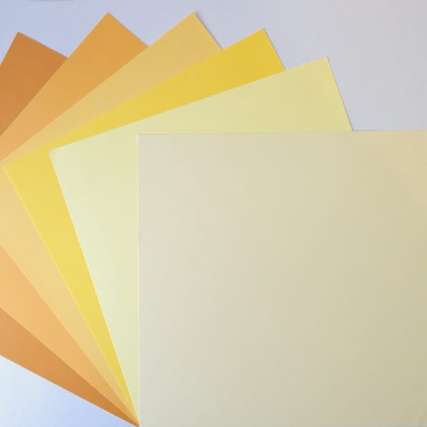 EB Textured Cardstock Shades Of Yellow Pack Of 6