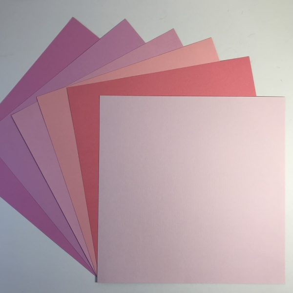 EB Textured Cardstock Shades Of Peachy Pack Of 6