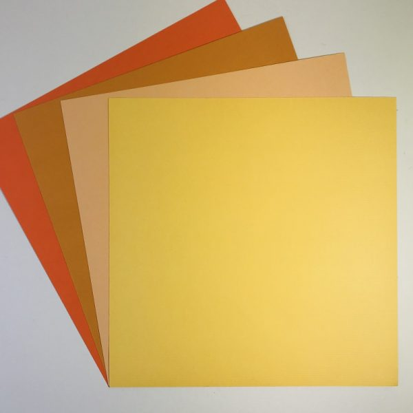 EB Textured Cardstock Shades Of The Sun Pack Of 4