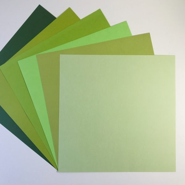 EB Textured Cardstock Shades Of Grass Pack Of 6