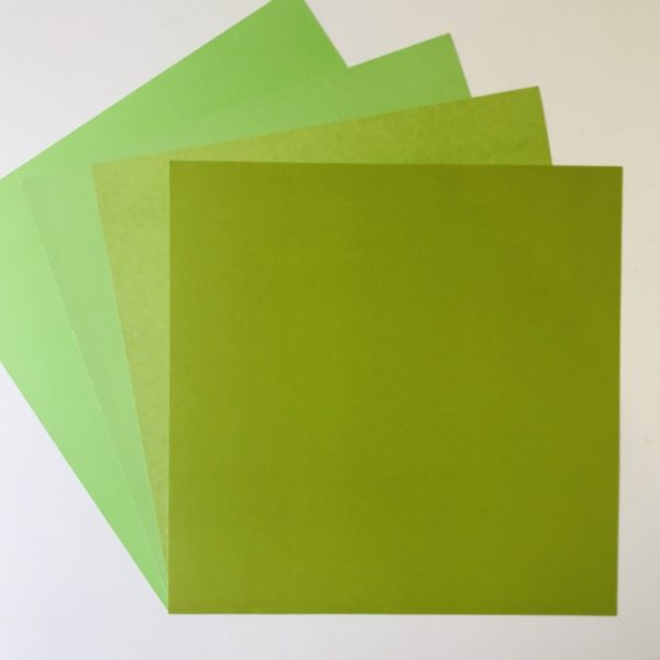 EB Textured Cardstock Shades Of Green Pack Of 4