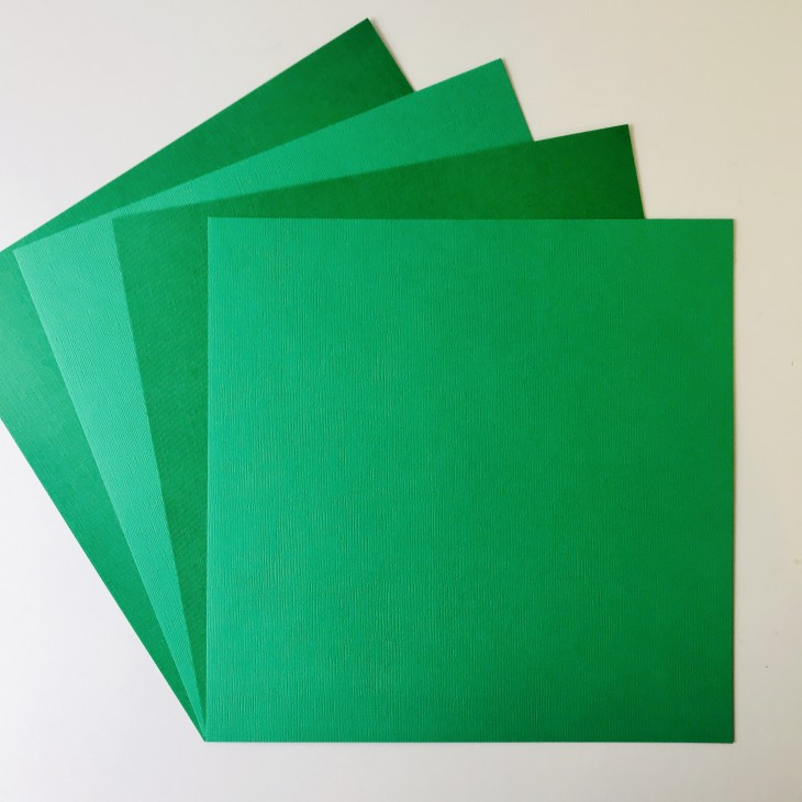 EB Textured Cardstock Green Pack Of 4