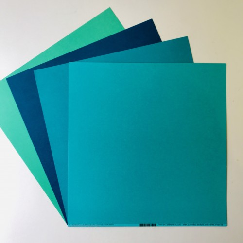 EB Textured Cardstock Shades Of Jade Pack Of 4
