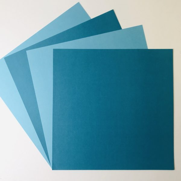 EB Textured Cardstock Teal Duo Pack Of 4