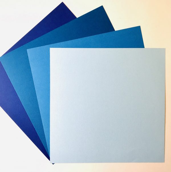 EB Textured Cardstock Shades Of Indigo Pack Of 4