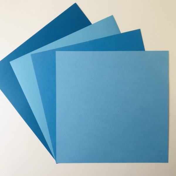 EB Textured Cardstock Shades Of Blue Pack Of 4