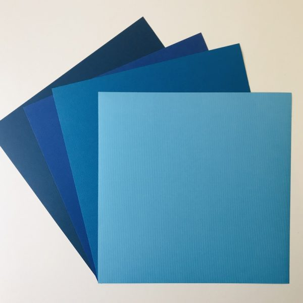 EB Textured Cardstock Shades Of The Ocean Pack Of 4