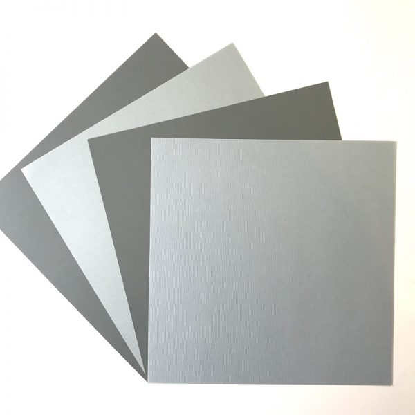 EB Textured Cardstock Dusk Duo Greys Pack Of 4