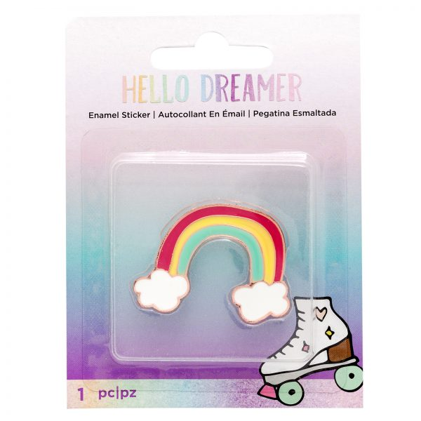 American Crafts Hello Dreamer Rainbow Metal Enamel Embellishment